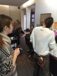 石川県美容学校の実習生が来てくれました。